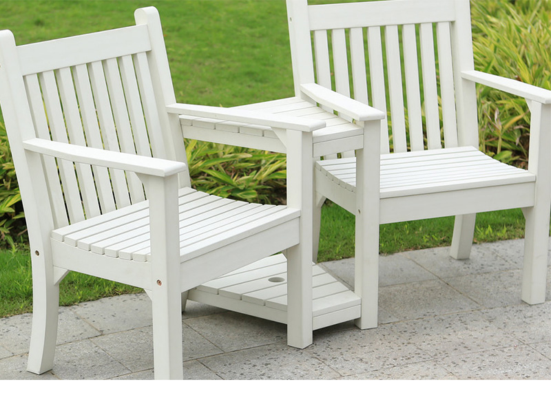 White Winawood Love Seat Bench